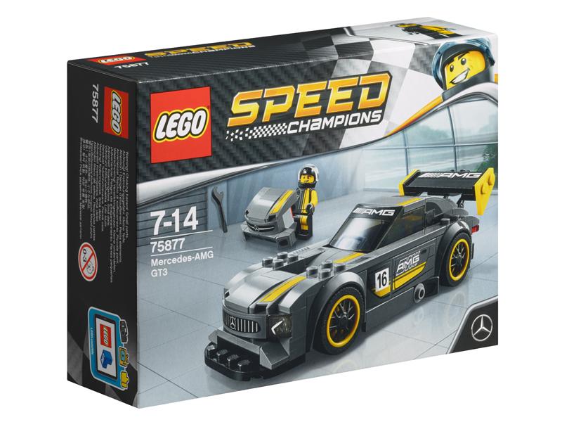 LEGO®, Speed Champions, Mercedes-AMG GT3, varsta 7-9 ani