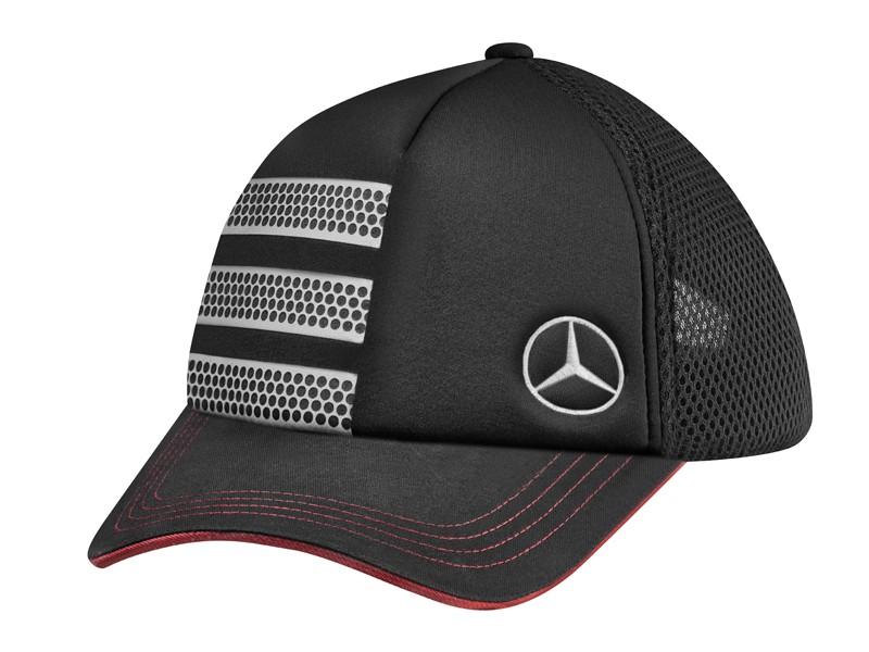 """Sapca """"ACTROS FAN"""", neagra cu insertii gri argintii - Originala Mercedes"""