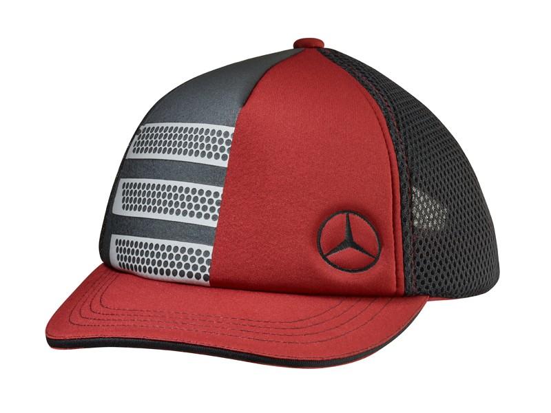 """Sapca """"ACTROS FAN"""", rosie cu insertii gri argintii - Originala Mercedes"""