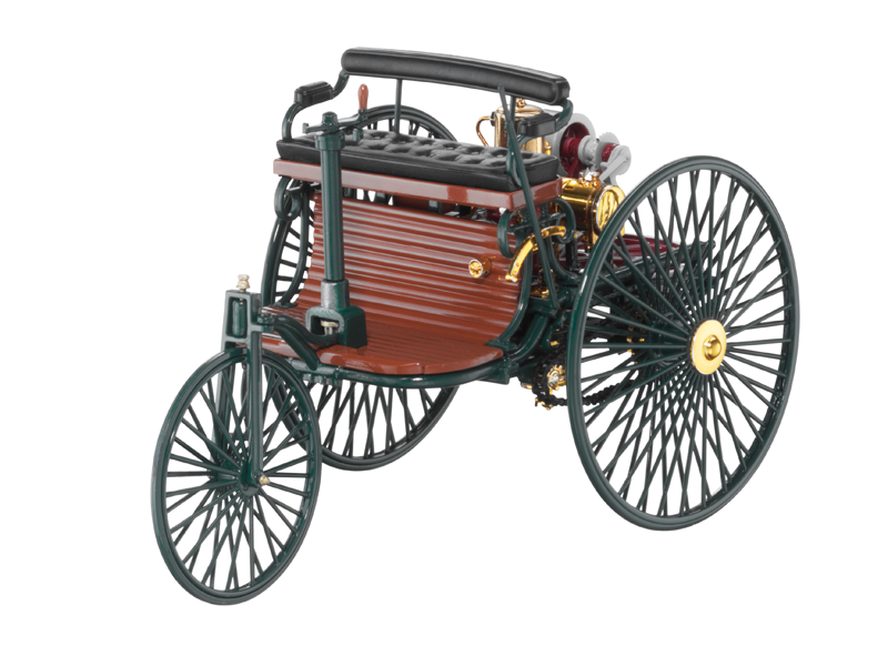 Macheta scara 1:18, Benz Patent Motor Car, an 1886, verde, Originala Mercedes