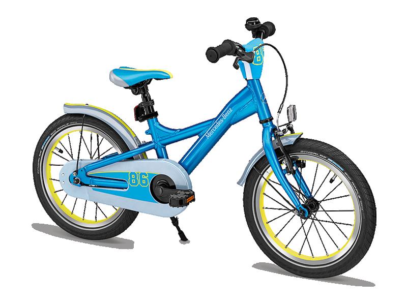 "Bicicleta copii varsta 4+, aluminiu, 23 cm, albastra cu logo ""Mercedes Benz"" - Originala Mercedes"