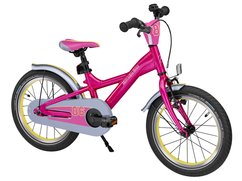 "Bicicleta copii varsta 4+, aluminiu, 23 cm, roz cu logo "" Mercedes Benz"" - Originala Mercedes"
