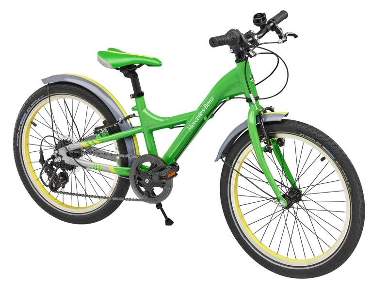 "Bicicleta copii varsta 6+, aluminiu, 28 cm, verde cu logo ""Mercedes Benz"" - Originala Mercedes"