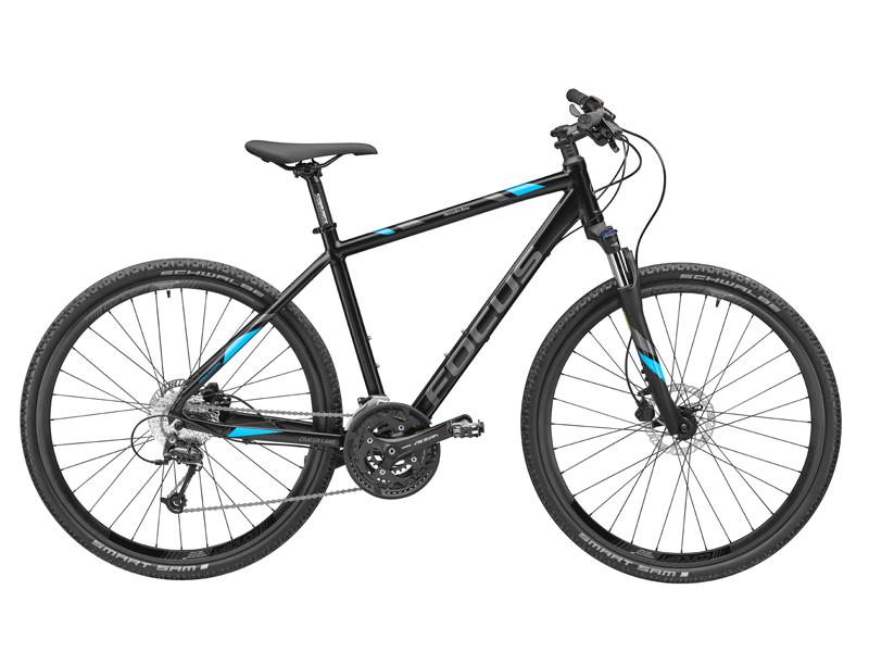 Bicicleta fitness FOCUS Crater Lake, aluminiu, 45 cm, neagra - Originala Mercedes