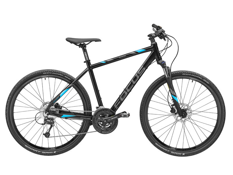 Bicicleta fitness FOCUS Crater Lake, FRANCE, aluminiu, 45 cm, neagra - Originala Mercedes