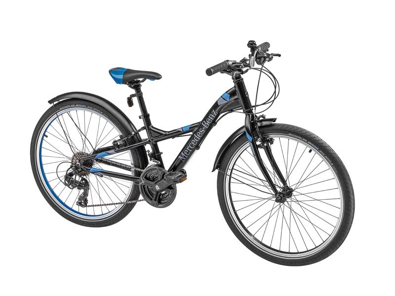 "Bicicleta copii varsta 8+, aluminiu, 31 cm, neagra cu logo ""Mercedes Benz"" - Originala Mercedes"