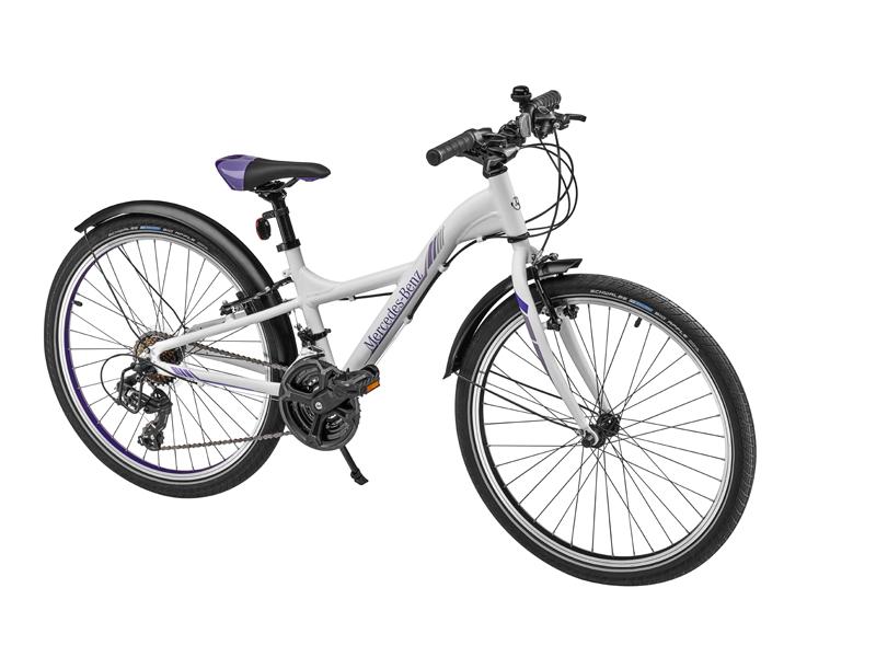 "Bicicleta copii varsta 8+, aluminiu, 31 cm, alba cu logo ""Mercedes Benz"" - Originala Mercedes"