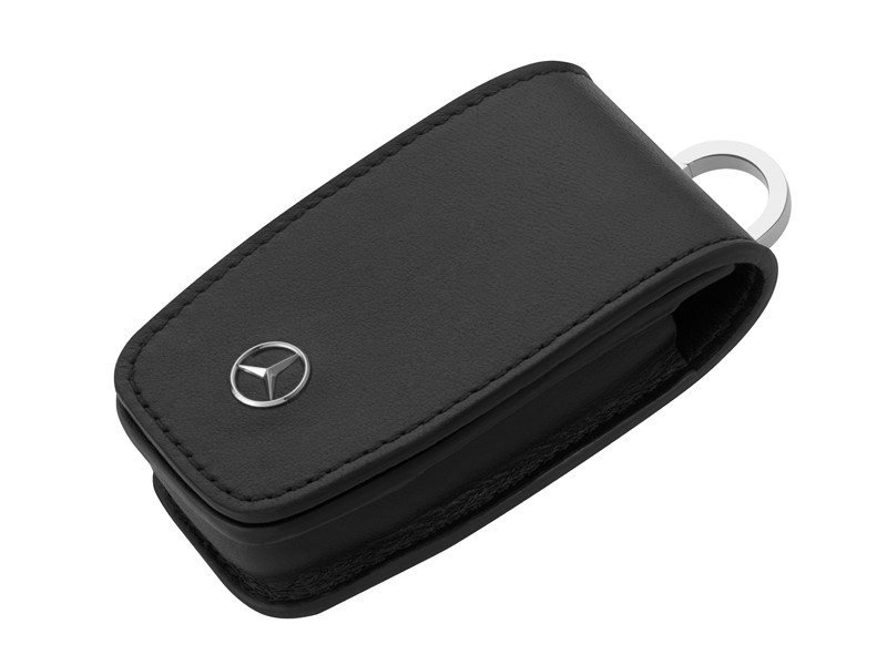 2 in 1 Husa protectie cheie, din piele & breloc - OE Mercedes