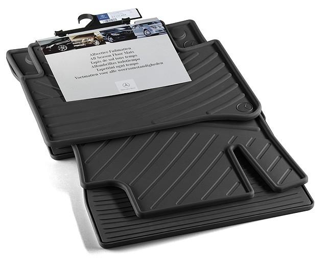 Set 4 buc covorase fata/spate CLASSIC din cauciuc, negru - Original Mercedes B67812049B.jpg