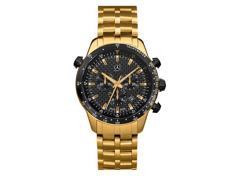 Ceas cronograf pentru barbati, sport, Gold Edition