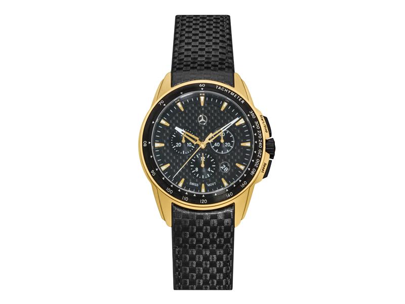 Ceas cronograf, barbati, sport, Gold Edition